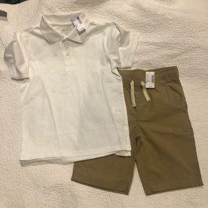 NWTS The Childrens Place boys shorts & top M 7/8